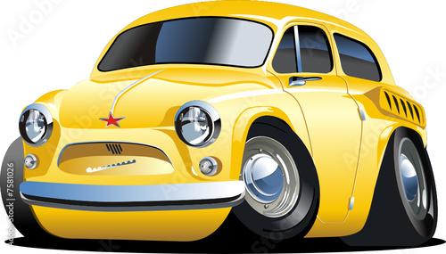 Vector cartoon retro car `Zaporozhetc`