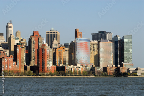 Foto op Canvas New York TAXI Manhattan skyline, photographed from New Jersey