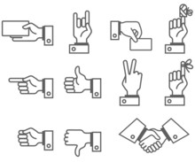 Simbolic Hand And Fingers Signs