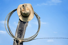 Cowboy Hat And Lasso