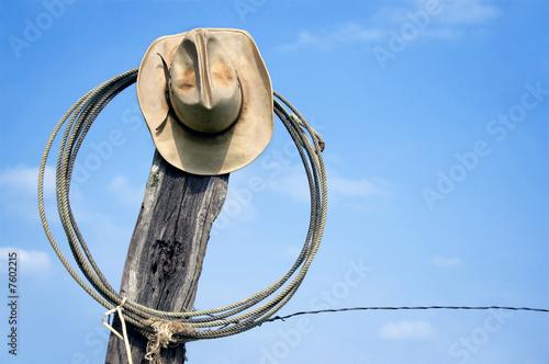 Cowboy Hat and Lasso Wallpaper Mural