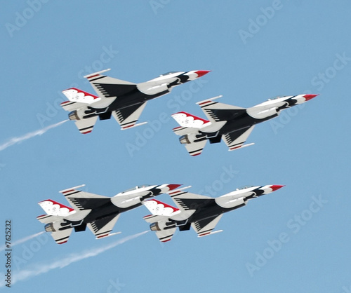 Photo Flight of 4 USAF Thunderbirds