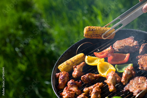 Spoed Foto op Canvas Grill / Barbecue Grilling at summer weekend