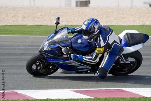Fotografia Superbike racing on track