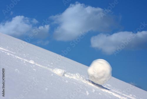 Fotografie, Obraz Snow ball