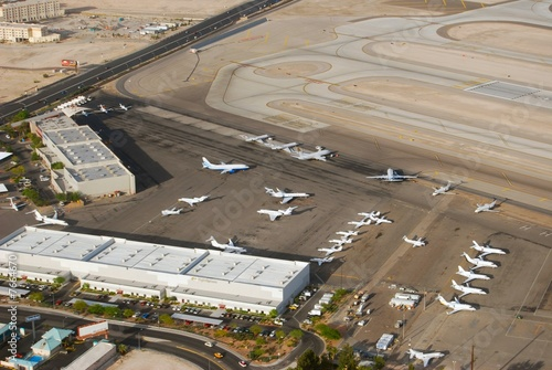 Aluminium Prints Airport Aerial view of aiport