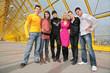 Six friends posing