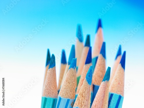 Garden Poster Brazil blue color pencils