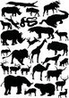 animals silhouettes large collection