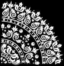 Decoration With White Quadrant