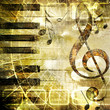 canvas print picture music grunge