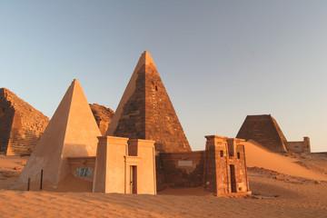 Famous Meroe pyramids