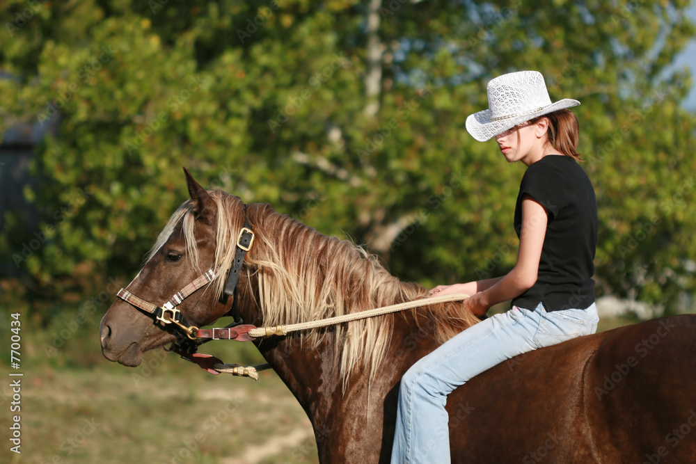 Teen cowgirl ride — pic 9