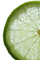 Close up of a Slice of Lime