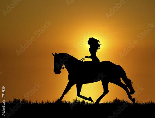 Photo  Sunset Horse Ride 1