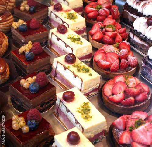 Fotografie, Obraz  cake and pastry display