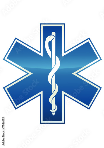 Symbole métal de l'ambulance (détouré)