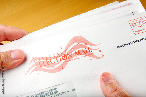 Fotografie, Obraz  Voter receiving ballot in mail