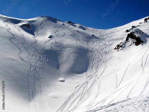 Fotobehang Wintersporten Alpen