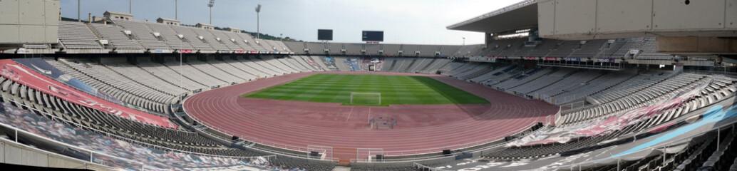 fototapeta panorama stadion olimpijskim w Barcelonie