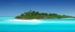 Leinwanddruck Bild - Einsame tropische Insel