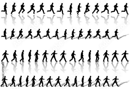 Fotografie, Obraz  Business Man Frame Sequence Loops Run & Power Walk