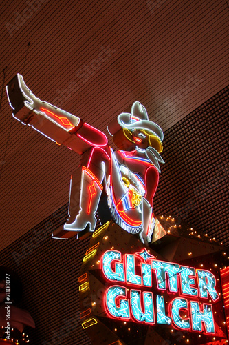 Poster Las Vegas Cowgirl Neon Sign in Las Vegas, USA