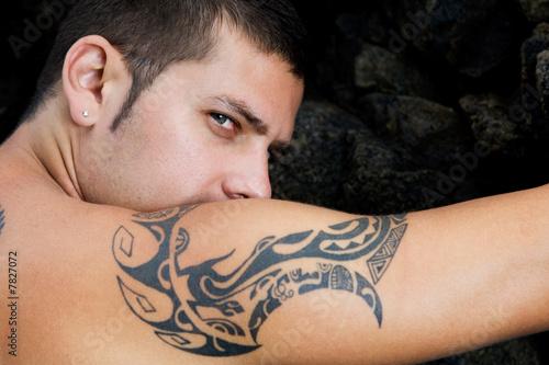 Fotografie, Obraz  Mirada y tatuaje