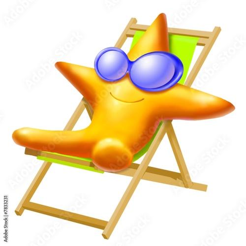 stella marina in spiaggia Poster
