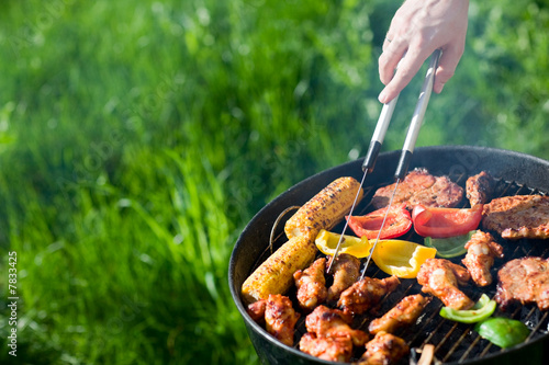 Foto op Aluminium Grill / Barbecue Grilling at summer weekend