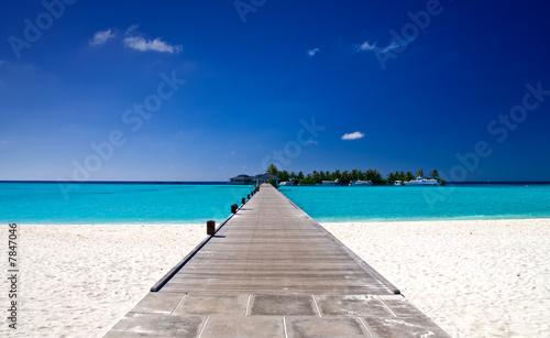 Foto-Kissen - Brücke am Strand (von Loocid GmbH)