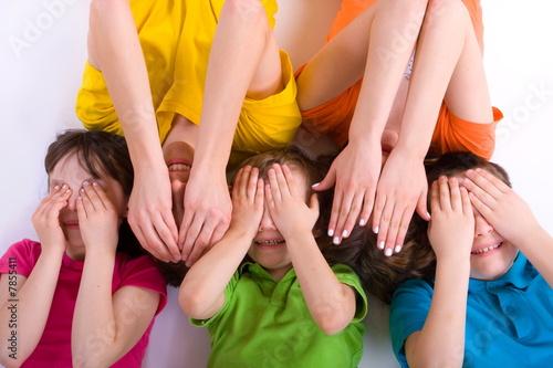 Fotografie, Obraz Group of Children