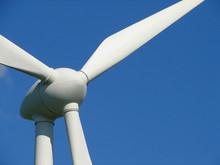 Nahaufnahme Eines Windkraftrads