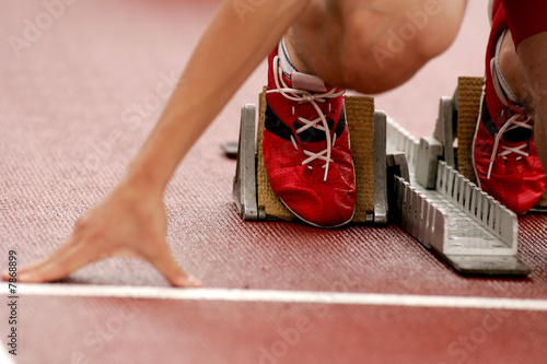 Atletismo Salida Canvas Print