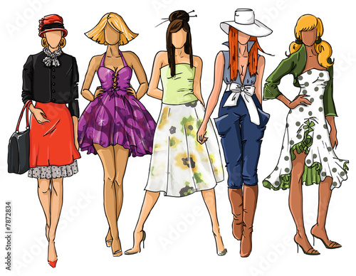 Slika na platnu fashion dresses