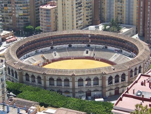 Poster Artistique Plaza de toros - Malaga