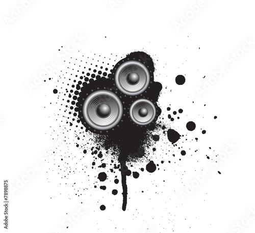 Photo sur Toile Papillons dans Grunge Grunge Party Speaker