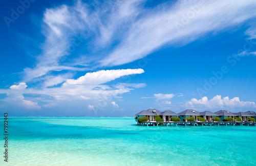 Foto-Kissen - Wasserbungalows im indischen Ozean (von Loocid GmbH)