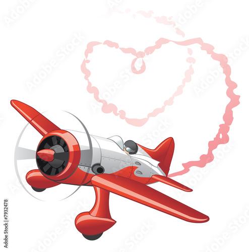 Foto-Plissee - Plane sending love message (von Kharlamova)