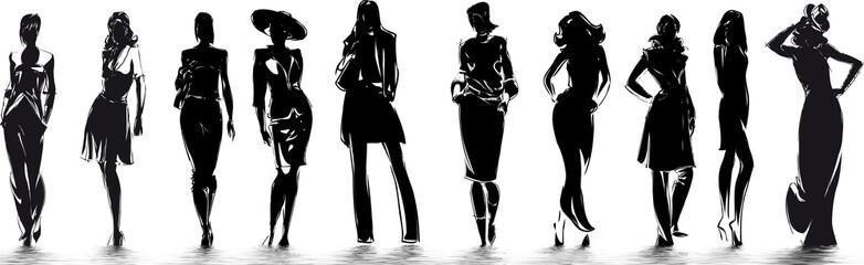 mode - silhouettes de femme