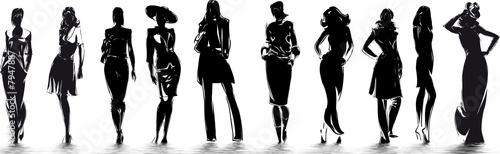 Valokuva  mode - silhouettes de femme
