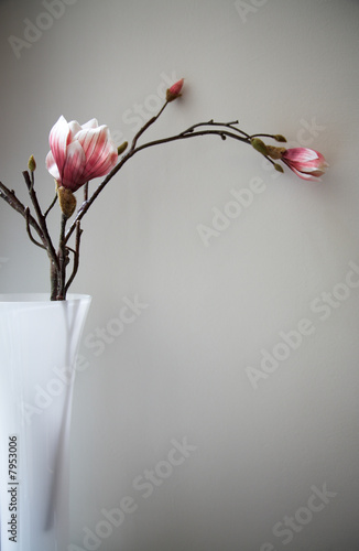 artificial taxtile flower in vase
