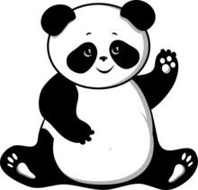 Charming And Fat Panda Bear