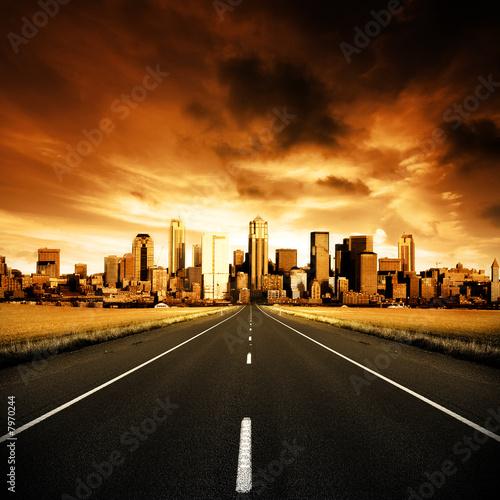 canvas print motiv - Kwest : Urban Highway