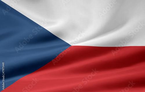 Obraz na plátně Tschechische Flagge