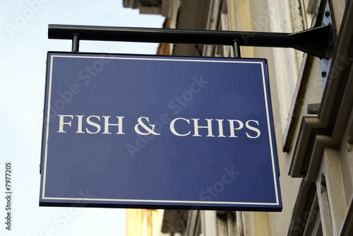 Fotografie, Obraz  sign. fish & chips