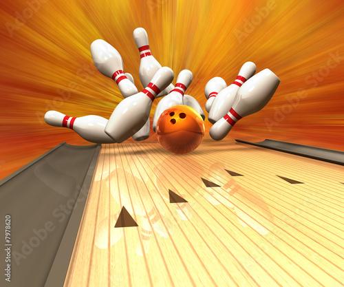 Fotografia Bowling Strike