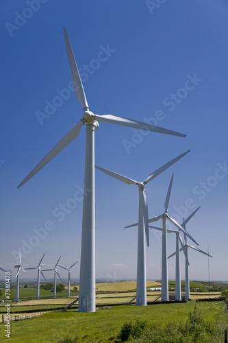 Aluminium Prints Mills Windmills in windfarm