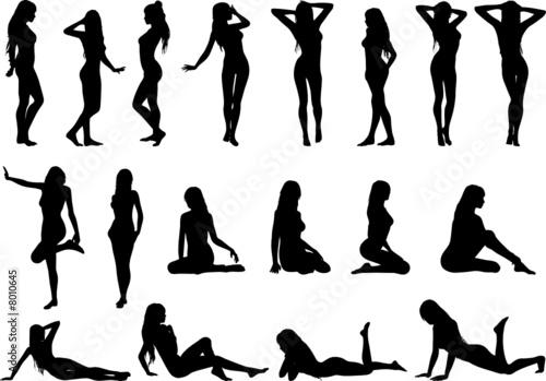 Obraz sexy women silhouettes - fototapety do salonu