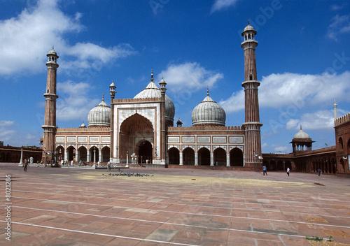 In de dag Delhi Moschea